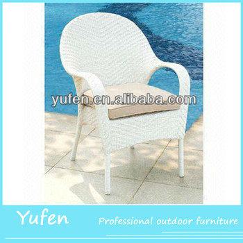 White Wicker Chairs Outdoor Rattan Patio Dining Chair Product On