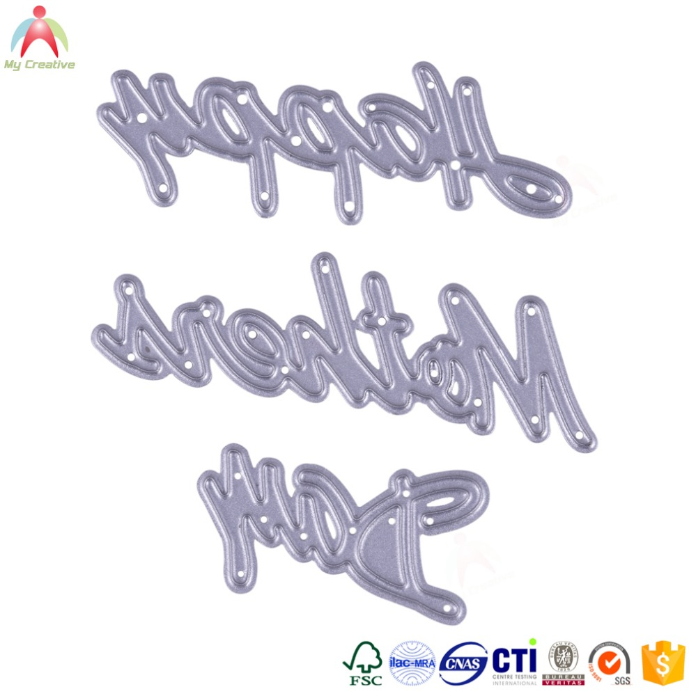 Metal stencil words cutting dies for scrapbooking