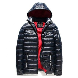 100% polyester men winter Casual Hooded padded jacket