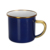 British style dark blue color cast iron metal custom 8cm printing steel enamel camp mug