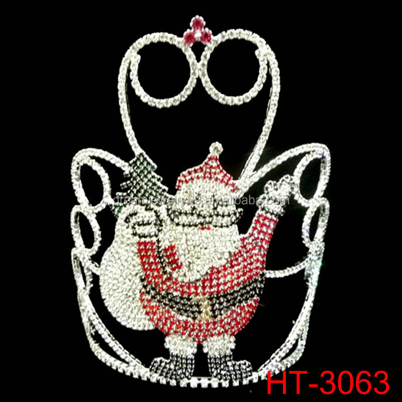 Santa Claus Tiaras new sparking surprise christmas pageant crowns for sale