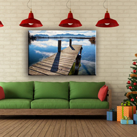 Wholesale nice easy landscape wall canvas painting designs for living room