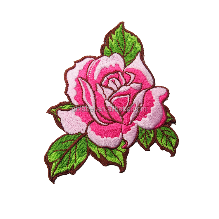 e40122a78f75 Custom Special Rose Beautiful Flower Embroidered Patches - Buy ...