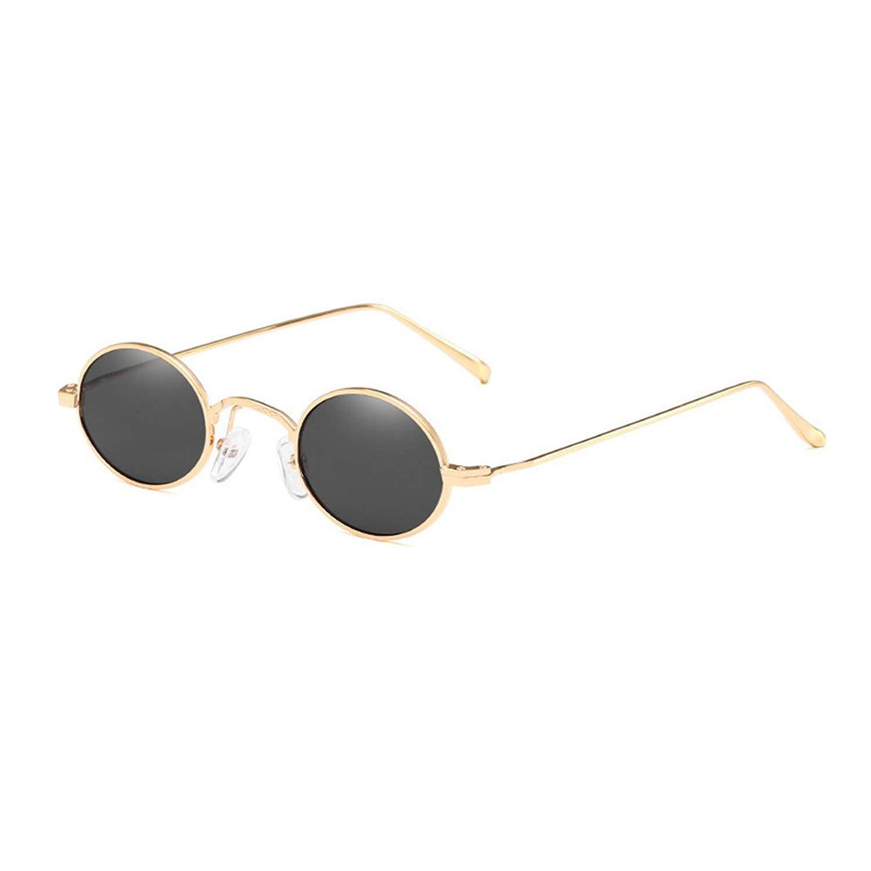 69b245848f MINCL Small Oval Shaped Sunglasses unisex Fashion Vintage Chic Designer  Eyewear UV400