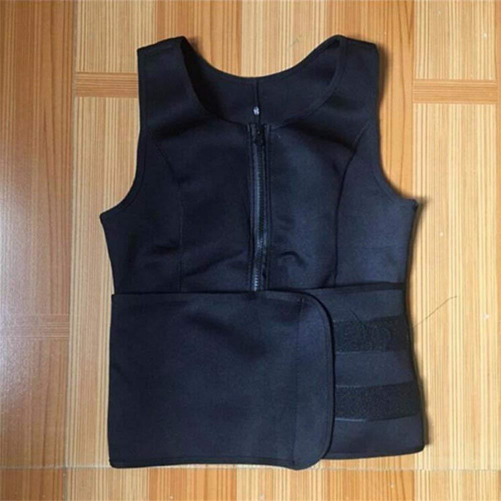 AOBRITON Women Sauna Suit Tank Top Vest Waist Trimmer with Adjustable Waist Trainer Belt Slim Waist Body Shaper for Lost Weight