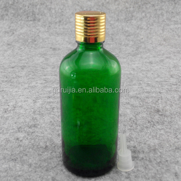 green glass bottles 100ml essential oil/perfume/Cosmetic bottle with screw cap