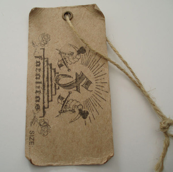 Eyelet And Hemp String For Jeans Kraft Vintage Paper Hang Tags ...