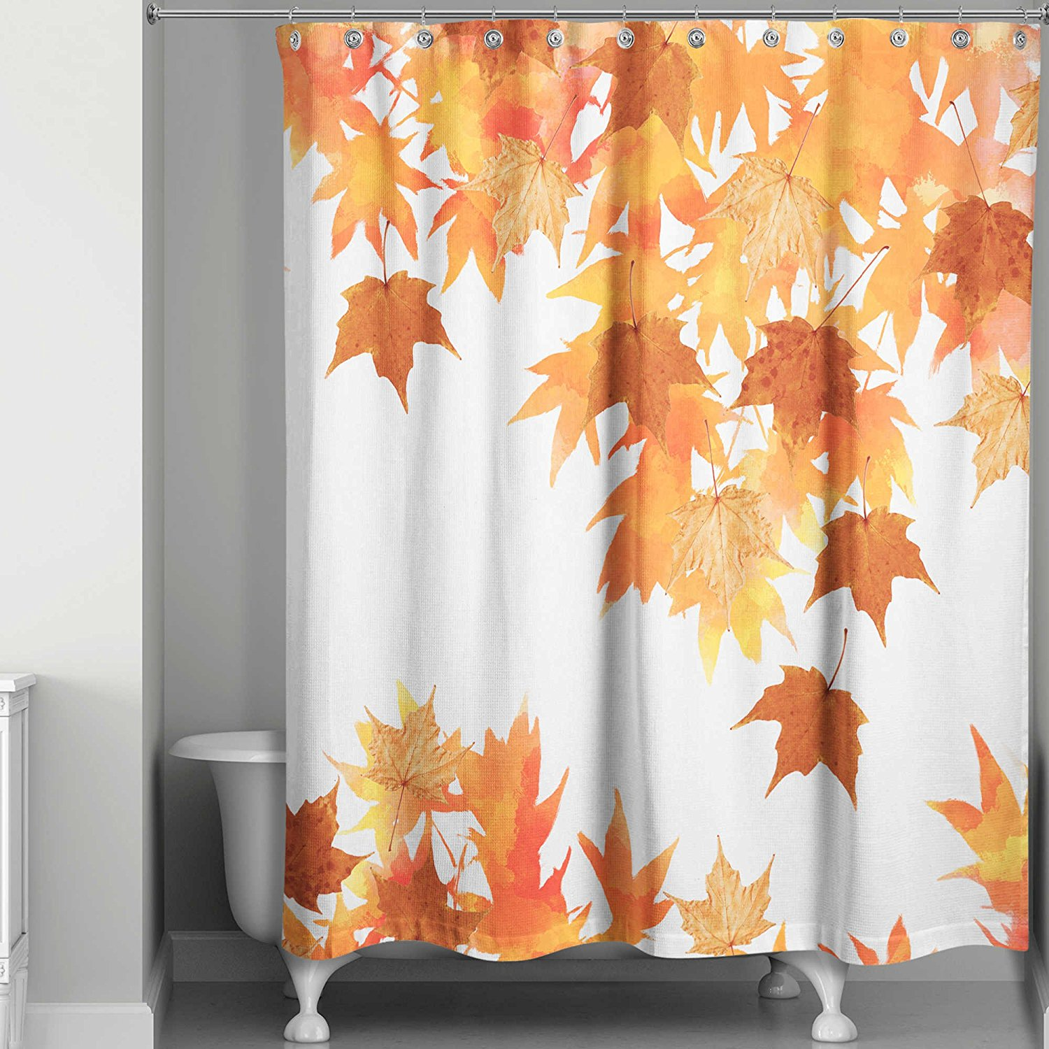 Charmant Get Quotations · Shower Curtain, Machine Wash And Dry In Autumn Leaves  Collage Design