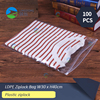 Hot sale size 30x40cm & 12''x16'' T-shirt clothing shoes poly zipper Plastic bag