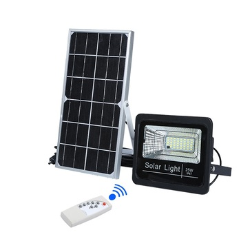 High quality outdoor waterproof ip67 ABS remote control 25w 40w 60w 100w solar led flood light