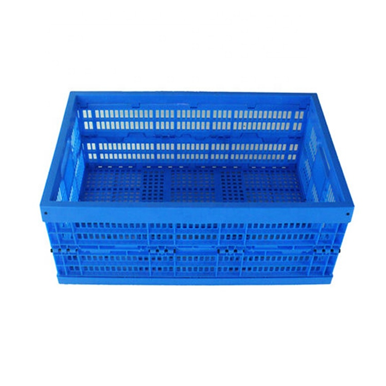Best selling foldable feature eurosize 61L straight wall plastic moving crates and boxes for storage