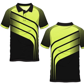 OEM/ODM Latest design sublimation pattern moisture wicking 100% polyester polo shirt men