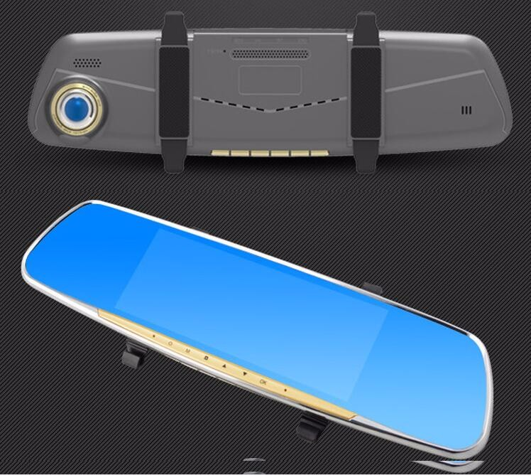 7.0 inch Android 4.4 system dual camera 1080p rearview mirror bluetooth gps rearview mirror with parking assist