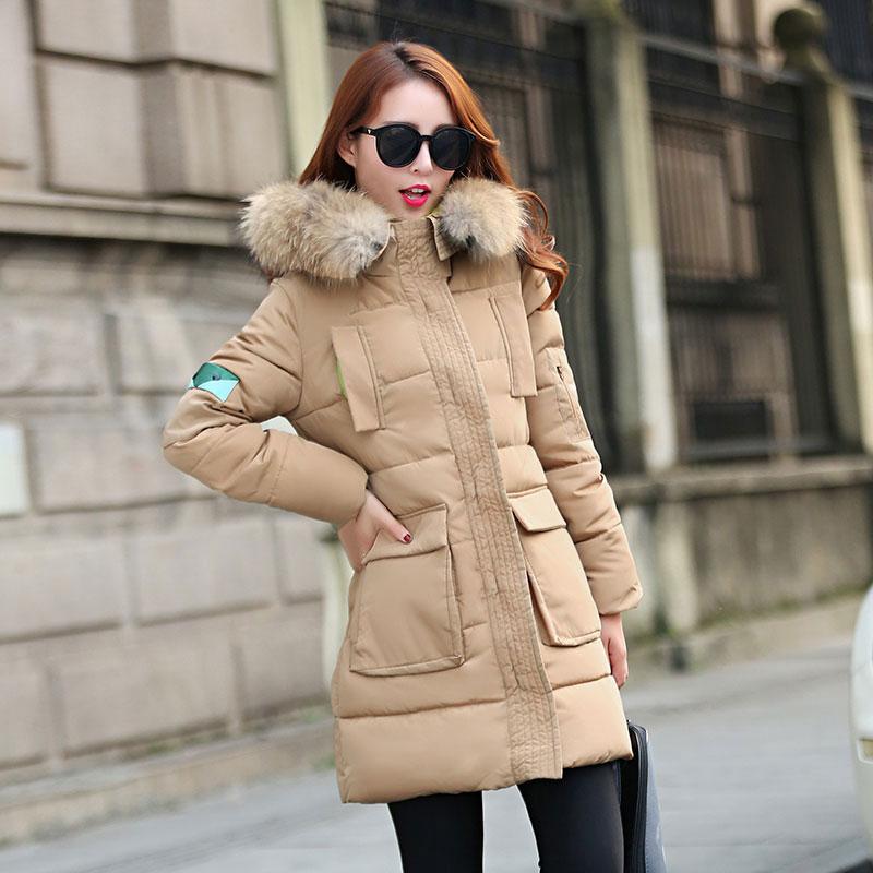 Wdc05 2015 мода зимняя куртка длинный участок пуховик большие карманы теплый пуховик