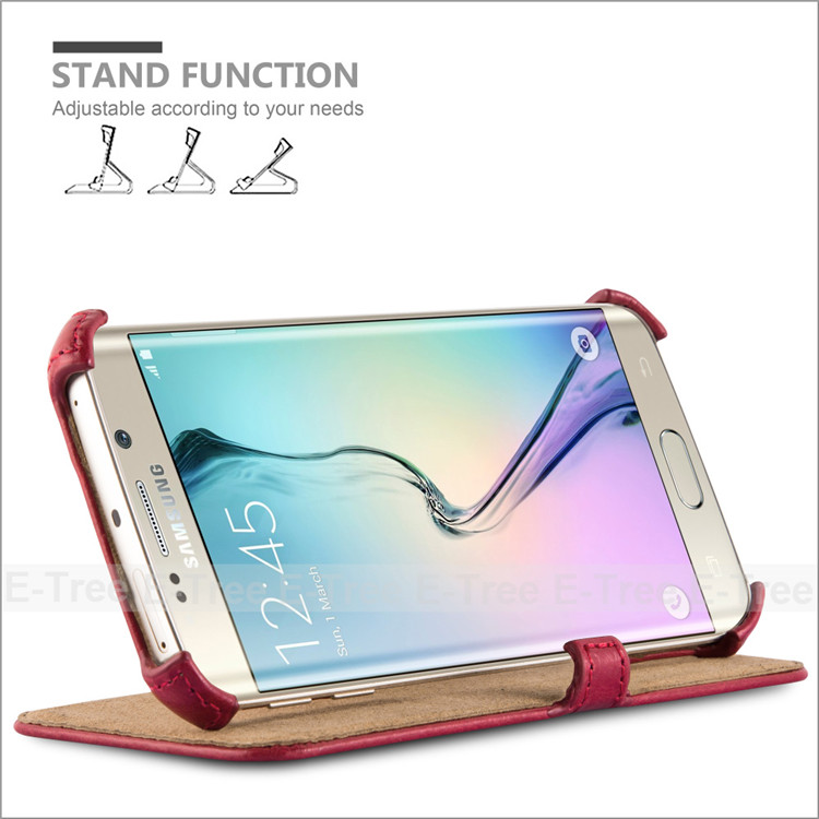 For <strong>Samsung</strong> Galaxy <strong>S6</strong> <strong>Edge</strong> Phone <strong>Case</strong> Flip Leather Stand Magnetic Cover Back <strong>Case</strong>