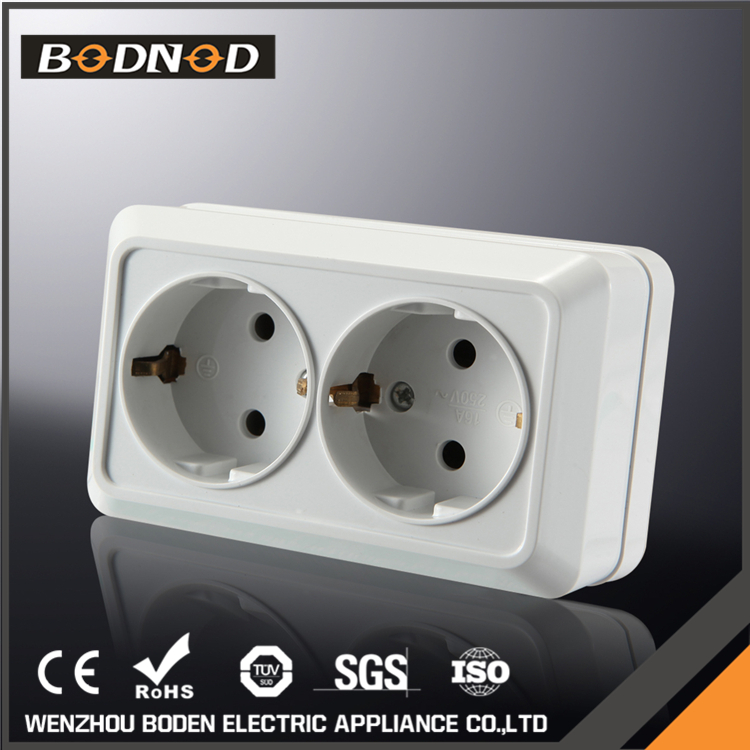 Universal power outlet european double schuko electric socket