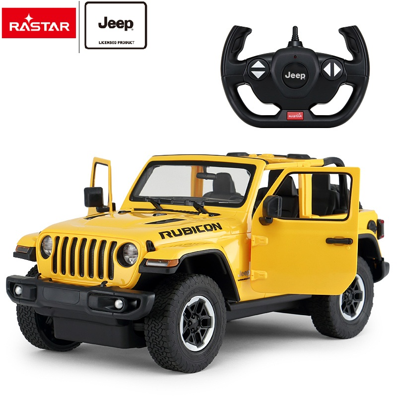 RASTAR children battery electric toy big wheel Jeep Wrangler JL kids rc car