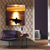 Most popular classical sunset landscape painting with gold foil