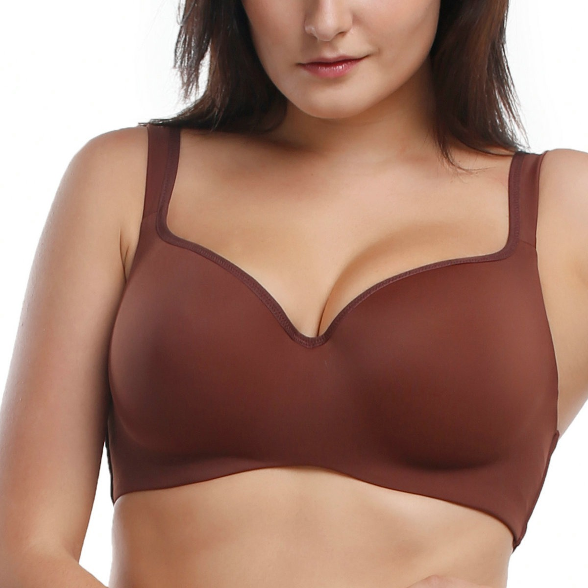 e16c227690658 Full Coverage Wide Straps Balconette T-Shirt Bra No-Poke Underwire ...