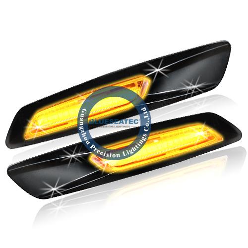 Из светодиодов бокового габаритного фонаря из светодиодов черный хромированный боковой из светодиодов боковой тип E82 E87 E88 E90 E91 E92 E93 E60 E61 F10