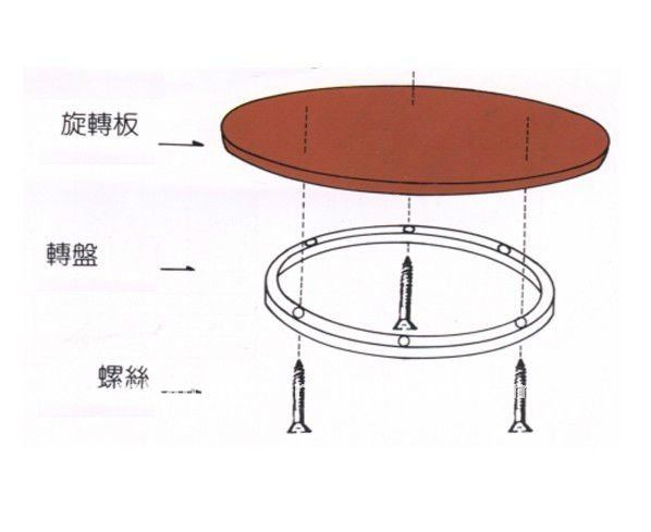 Glass Lazy Susan Hardware Swivel Base For Large Table