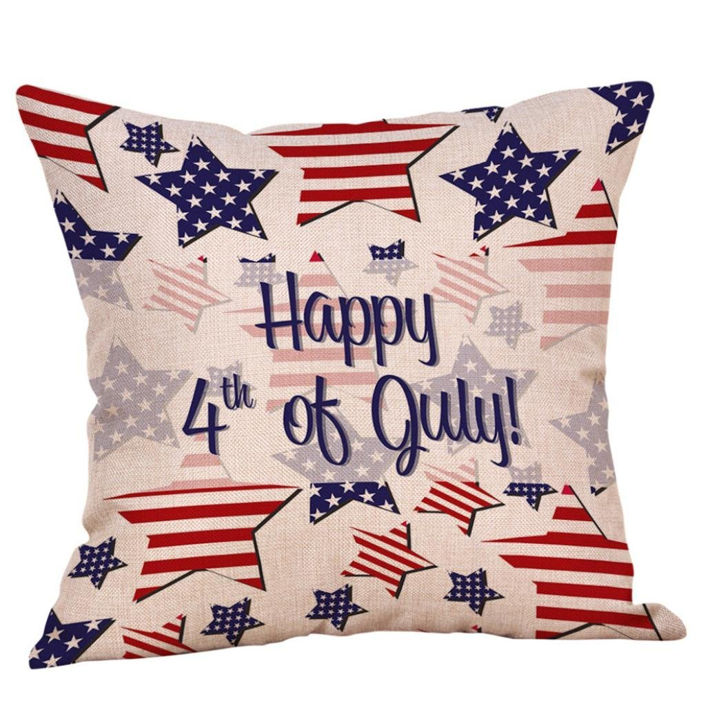 bf0215a37072 Get Quotations · Elogoog Independence Day Pillow Case
