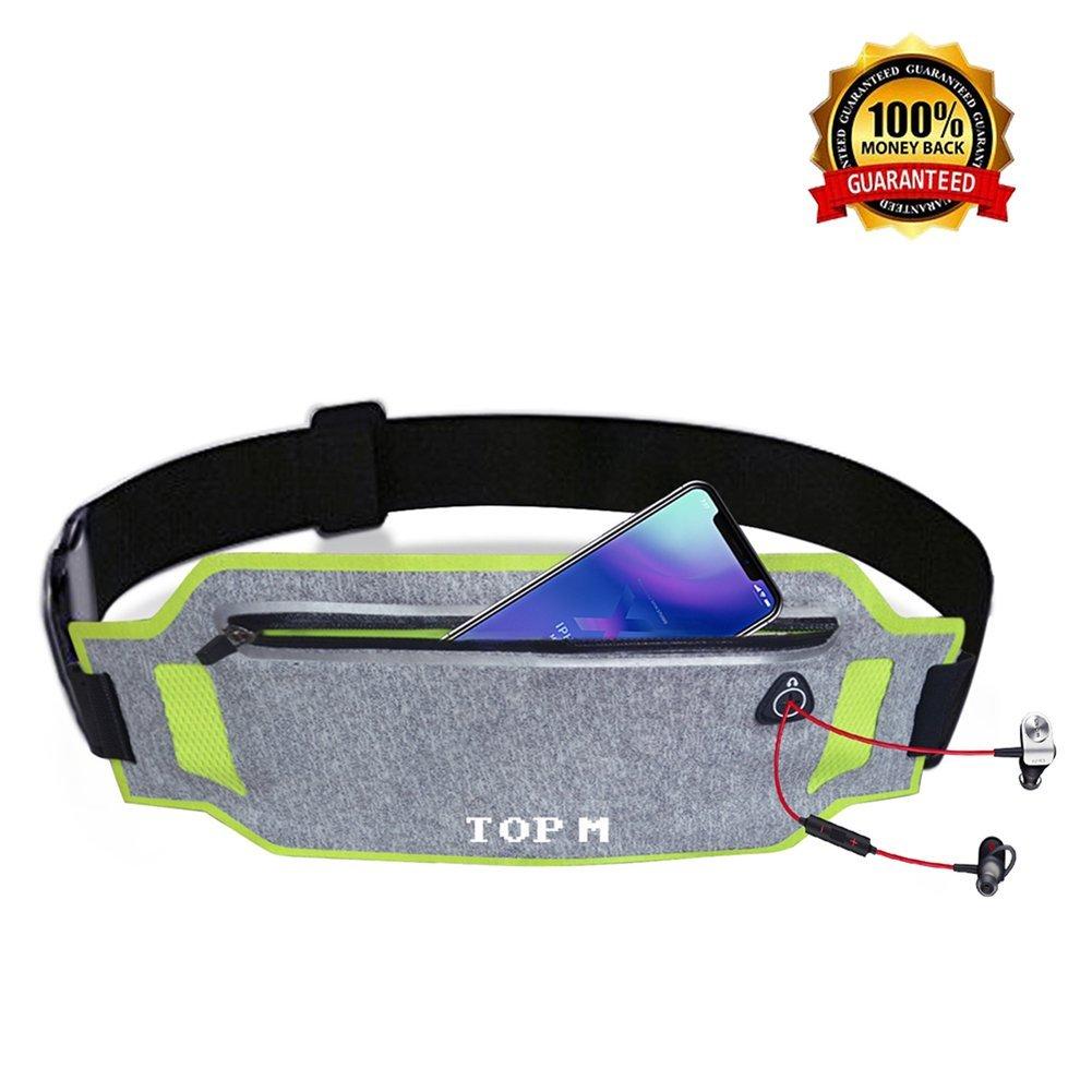 Running Belt for Women & Men Waist Pack Belt Lightweight Adjustable Waistband Running Waist Packs waterproof Waist Pouch Sport Accessories Waist Pack Belt Bag Travel Pouch for iPhone X 6 7 27 Plus