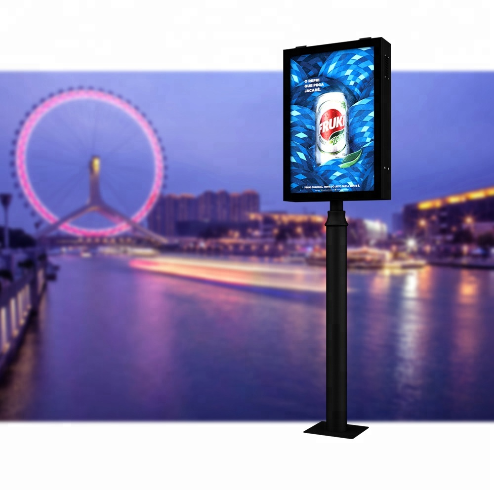 Solar Power Werbung Signage Display Stehend Licht Box