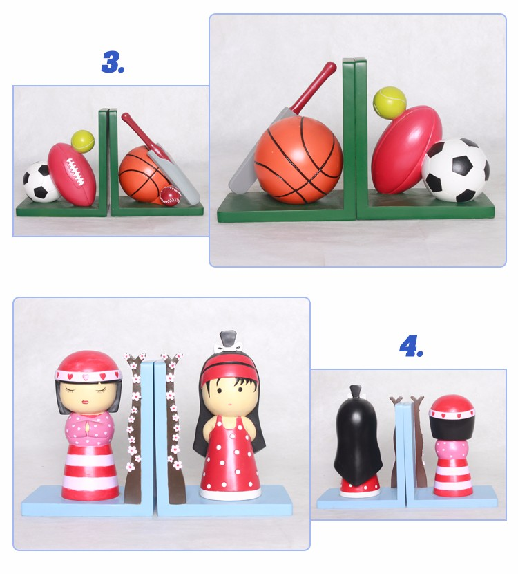 China Office Table Reading Bookends sport theme