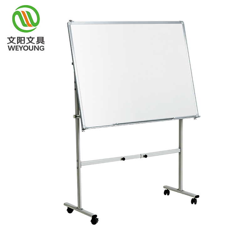 Mobile Dry Erase Double Sided Magnetic Whiteboard Stand With Aluminum Frame