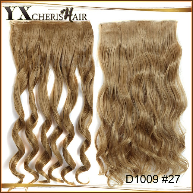Real Thick Womens Girls Long Curly Full Head Clip In Hair Extensions Pieces  Brown Black Blonde 24