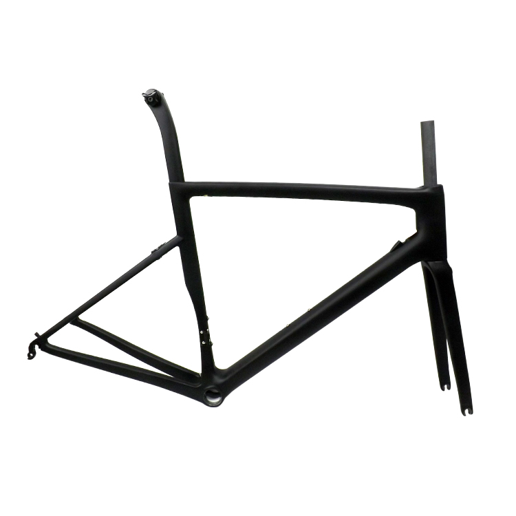 Aangepaste machinale service glossy carbon racefiets frame aero