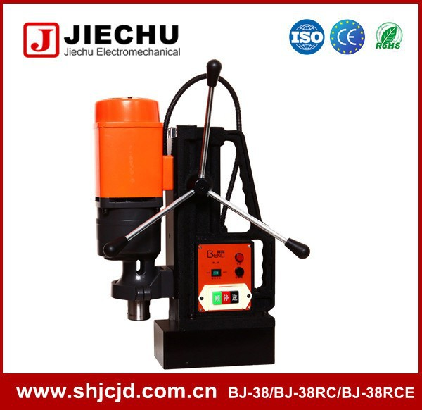 38mm BJ-38RC heavy weight portable Steel drilling portable magnetic drill machine and bench drill
