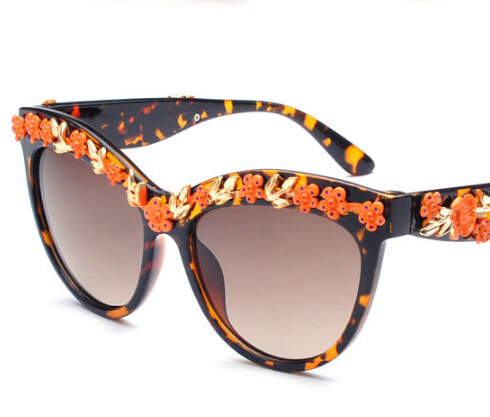 new arrival 2015 summer style fashion retro womens large frame rose sunglasses brand designer cateye sunglasses.ty4128.xh