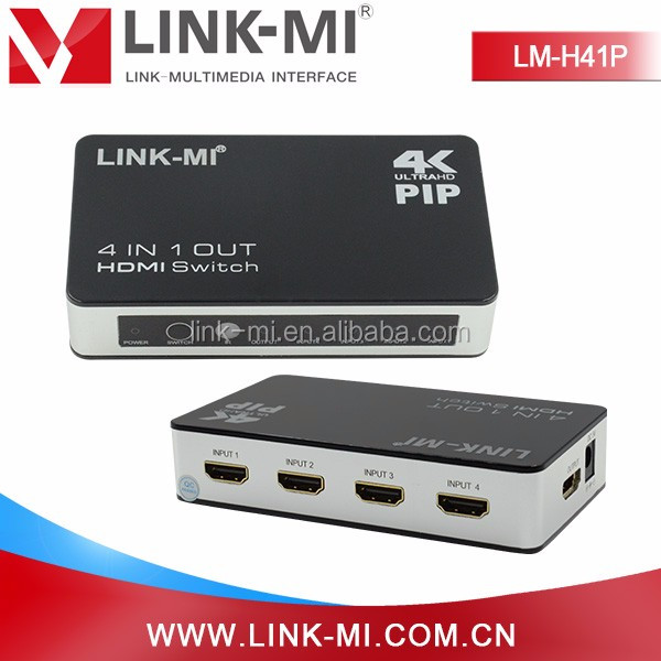 LINK-MI LM-H41P 4x1 Professional USB Switch 4 HDMI inputs x 1 output 4 with factory price