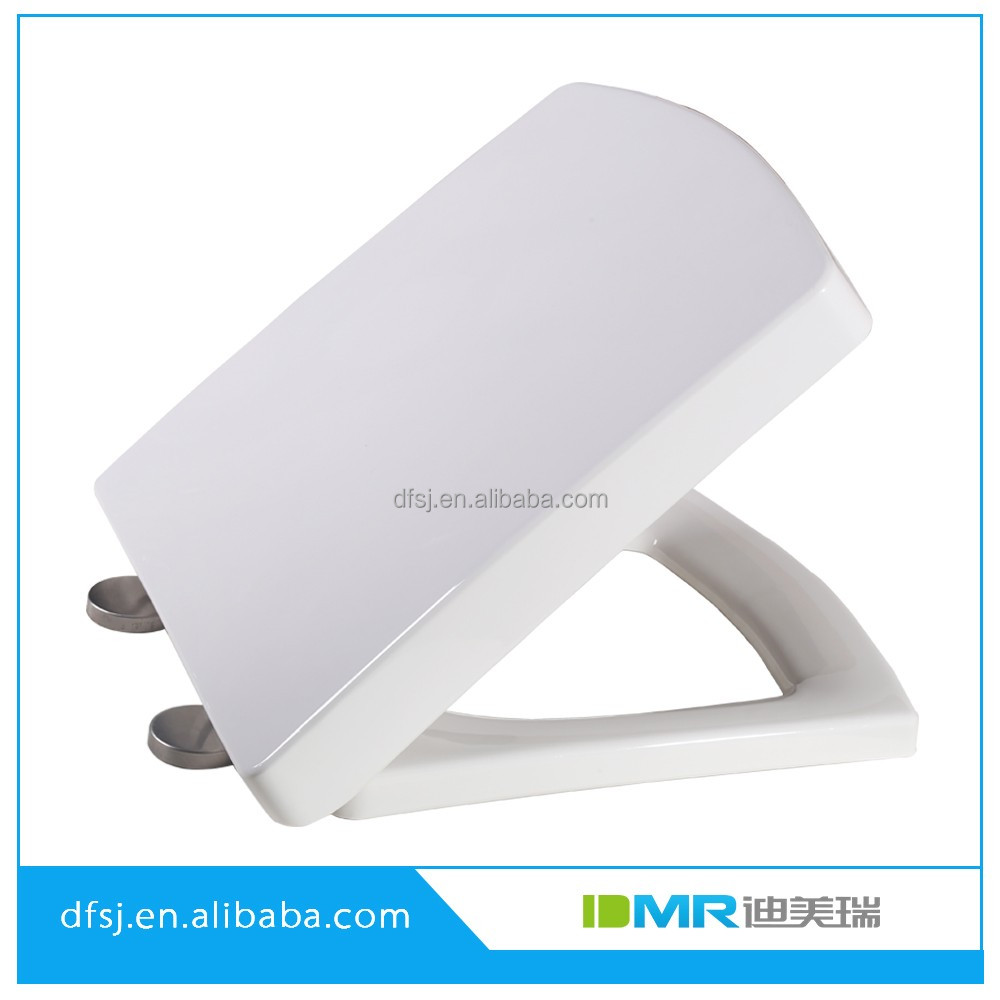 Quick release stainless steel hinge soft close toilet seat