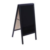 Custom Factory Price Black Finish Wood Frame Large Menu Sign Displays A-Frame Sidewalk Chalkboard