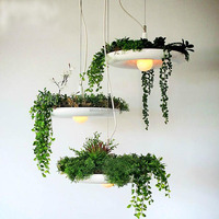 Aicco FLowers Metal Shade Garden Lights Outdoor Solar Decorative LED Vintage Pendant Lighting