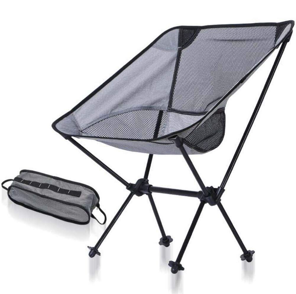 Onfly Outdoor Folding Camping Chair Ultra Light Portable Fishing Beach Chair Aviation Aluminum Backrest Chair With Carry Bag Compact Folding Backpacking Chairs Portable Collapsible Chair Stool