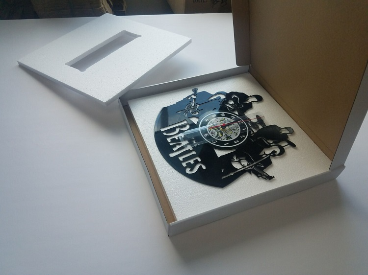 Details about  /Praha Vinyl Record Wall Clock Decor Handmade 5754