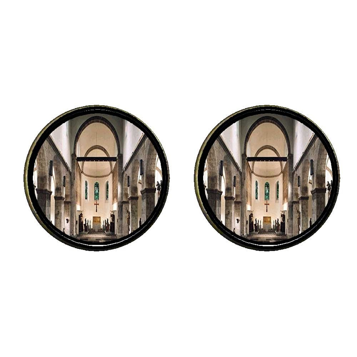 GiftJewelryShop Bronze Retro Style st. cecilia church and museum cologne Photo Clip On Earrings #14