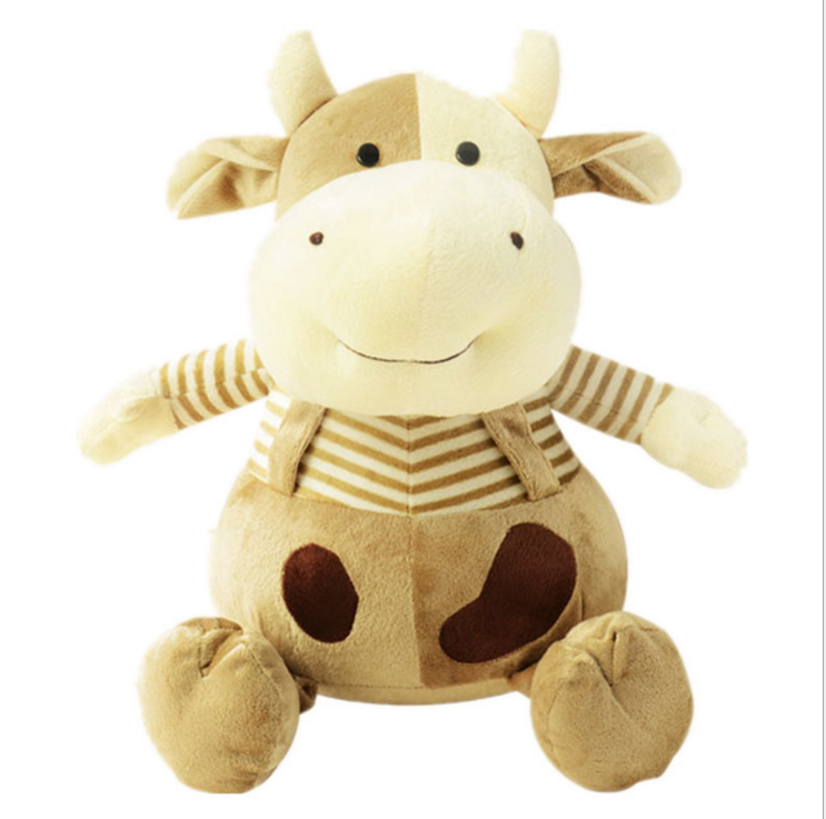Custom wholesale stuffed cow plush baby toy