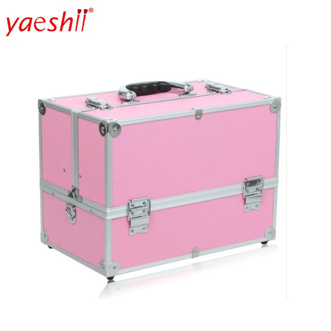 Yaeshii professional aluminum travel portable customized Artist Organizer Bag makeup brush train case