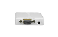 New design hdmi 2 vga/ypbpr converter USB charge HDMI in VGA out converter