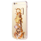 OEM Gold chain jewel phone case for iPhone 6/Plus