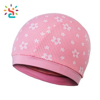 Filles rose Respirant Bonnet de Bain Soleil protection dobby Chapeau enfants  fleurs Spandex bonnets de Natation 03fc4a1dc8f