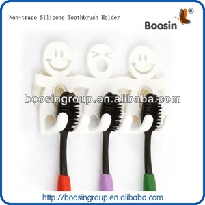China supplier OEM Custom Wall mounted No-trace soft pvc Silicone plastic Toothbrush Holder