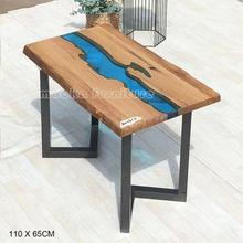Juin grande promotion prix résine table rectangle table basse en bois