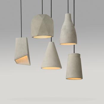 Modern Pendant Lamp Cement Vintage
