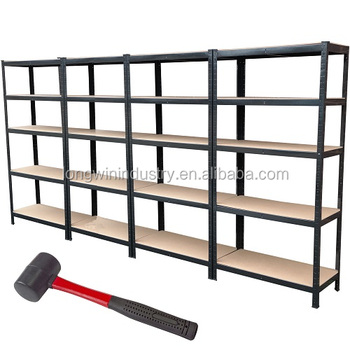 heavy duty metal steel rack 5 shelves storage garage home shelving - Heavy Duty Storage Shelves